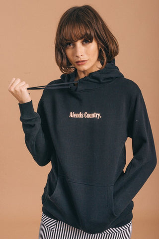 Afends AC Mini Fleece Pullover Hood Black