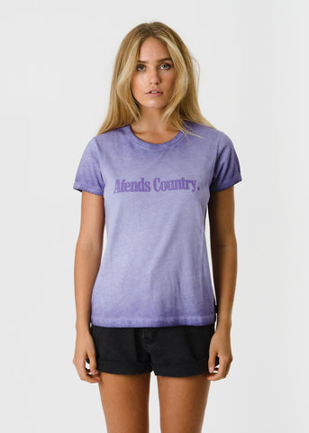 Afends Company Ringer Tee Purple Daze W184010 Famous Rock Shop Newcastle, 2300 NSW. Australia. 1