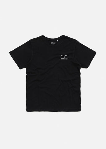 Afends Company Standard Fit Tee Black M183010 Famous Rock Shop Newcastle, 2300 NSW. Australia. 1