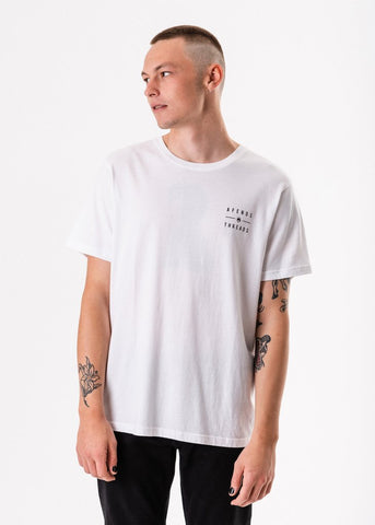 Afends  Company Standard Fit Tee White