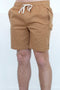 "Afends Dendy Elastic Waist Walkshort 17"" Tan M183361 Famous Rock Shop Newcastle 2300 NSW Australia"