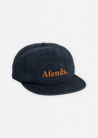 Afends Dense III Unstructured Cap Navy Famous Rock Shop Newcastle NSW Australia