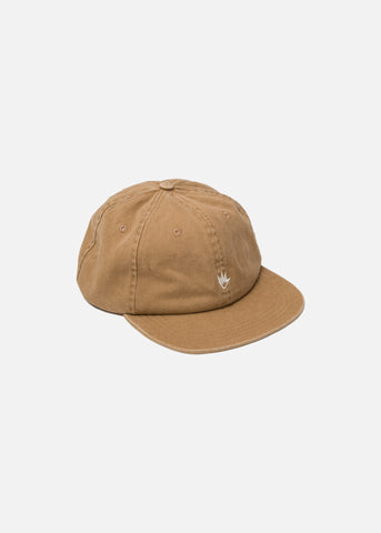 Afends Flame 6 Panel Soft Brim Cap Honey Snapback One Size