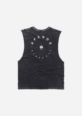 Afends Home Bancut Tee Black Acid Wash Famous Rock Shop Newcastle, 2300 NSW. Australia. 1