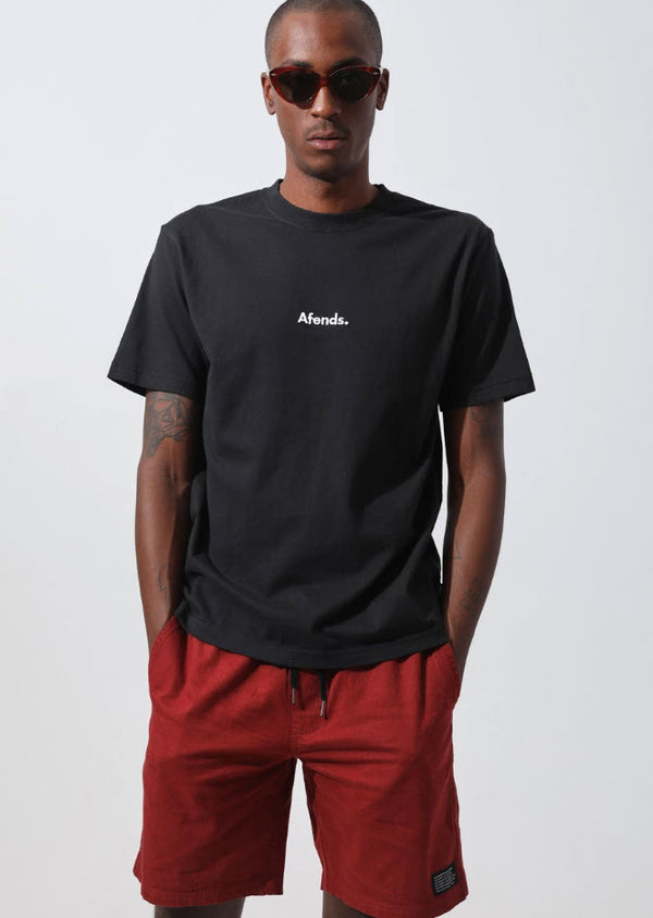 Afends Home Grown Retro Fit Tee Black M194000 Famous Rock Shop Newcastle, 2300 Australia. 1