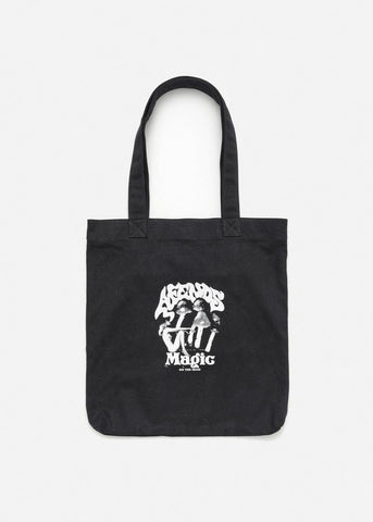 Afends Magic Tote Bag Black Famous Rock Shop Newcastle, 2300 NSW. Australia. 1
