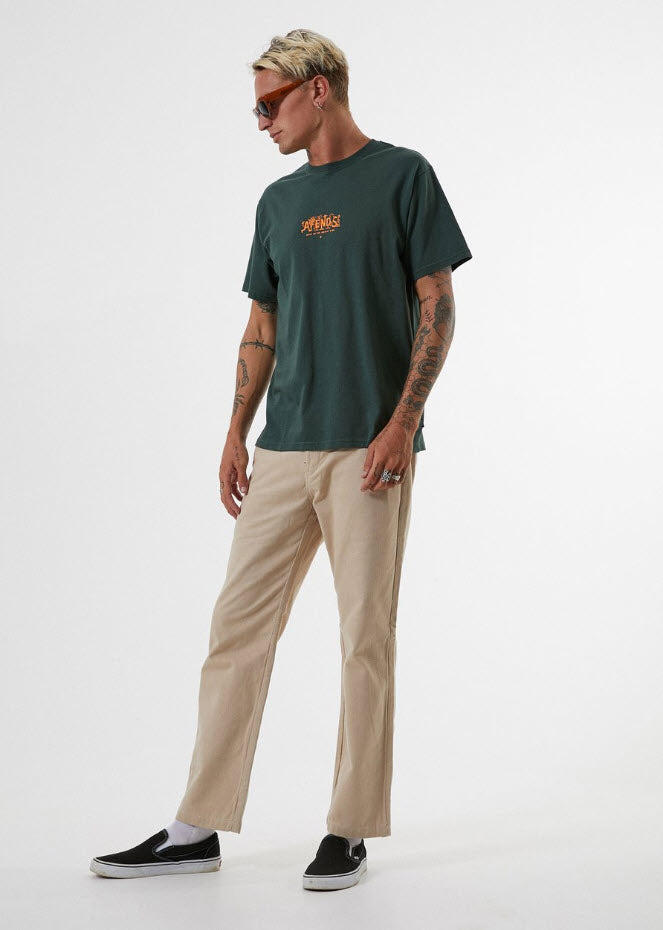 Afends Men's Bright Side Retro Fit Tee Forest M191010 Famous Rock Shop Newcastle, 2300 NSW. Australia. 2