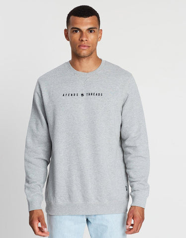 Afends Men's Since 2006 Crew Neck Sweater Grey Marle M191501 Famous Rock Shop Newcastle, 2300 NSW. Australia. 1