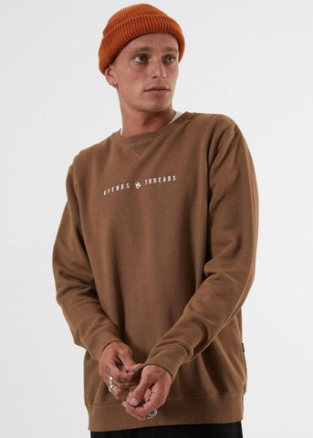 Afends Men's Since 2006 Crew Neck Sweater Kangaroo M191501  Famous Rock Shop Newcastle, 2300 NSW. Australia. 1