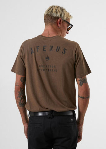 Afends Men's Standard Issue Standard Fit Tee Kangaroo M191009 Famous Rock Shop Newcastle, 2300 NSW. Australia. 1