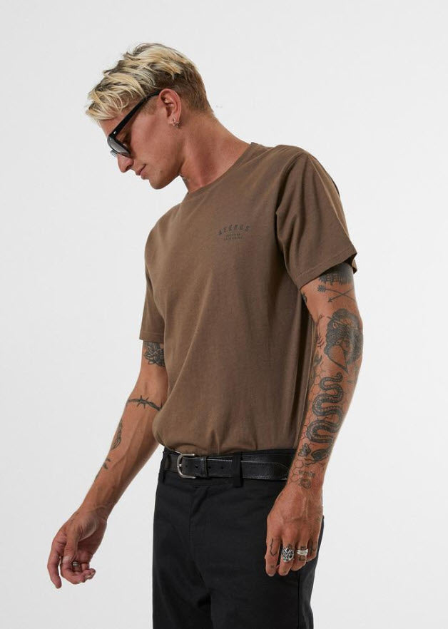 Afends Men's Standard Issue Standard Fit Tee Kangaroo M191009 Famous Rock Shop Newcastle, 2300 NSW. Australia. 2