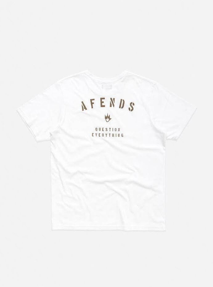 Afends Men's Standard Issue Standard Fit Tee White M191009 Famous Rock Shop Newcastle, 2300 NSW. Australia. 2