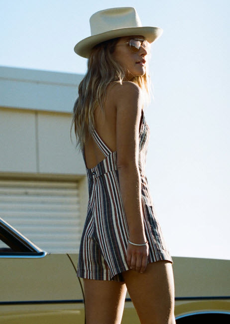 Afends Nys Multi Stripe Playsuit