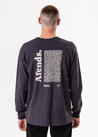 Afends  Noise Retro Fit Long Sleeve Tee Deep Navy