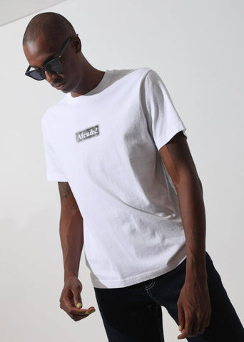 Afends Return Retro Fit Tee White M194014 Famous Rock Shop Newcastle, 2300 NSW. Australia. 1