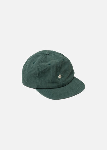 Afends Revolution Hemp Soft Brim 6 Panel Cap Forest One Size
