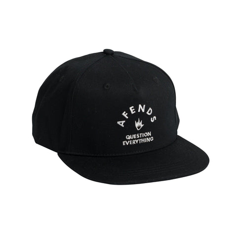 Afends Roll Snapback Cap Black Famous Rock Shop Newcastle NSW Australia