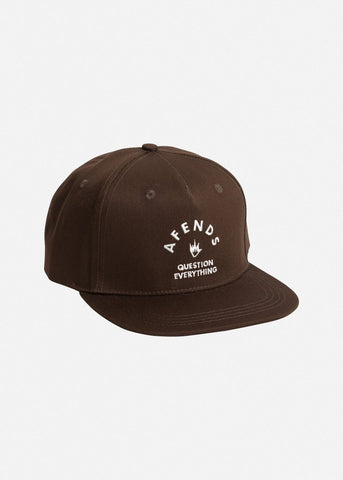 Afends Roll Snapback Cap Coffee