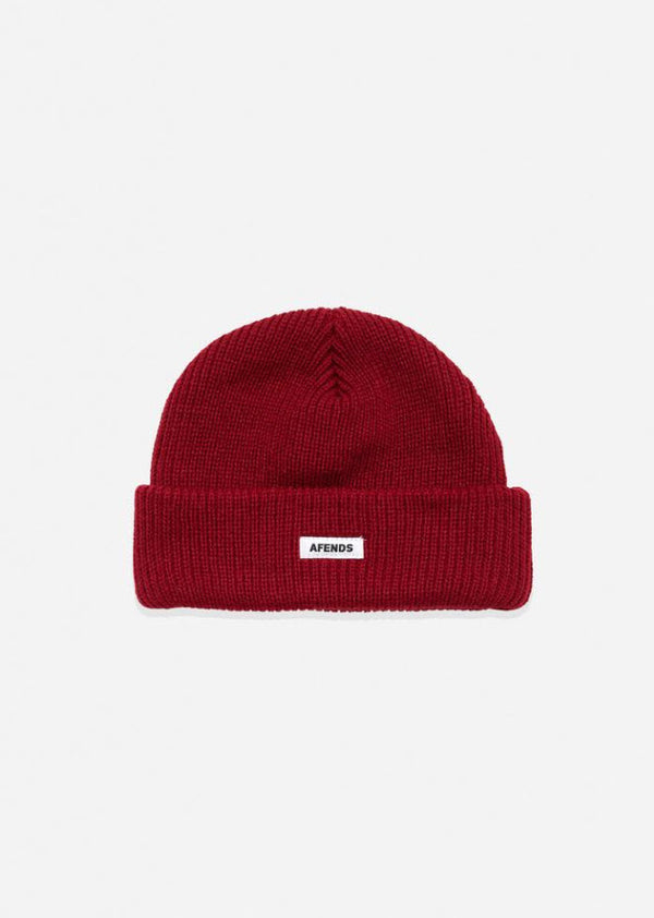 Afends Unisex Stock Standard Beanie Chilli A191605 Famous Rock Shop Newcastle, 2300  NSW Australia. 1