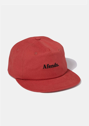 Afends Unisex Zone Half Moon Cap Brick A193604 Famous Rock Shop Newcastle, 2300 NSW. Australia. 1