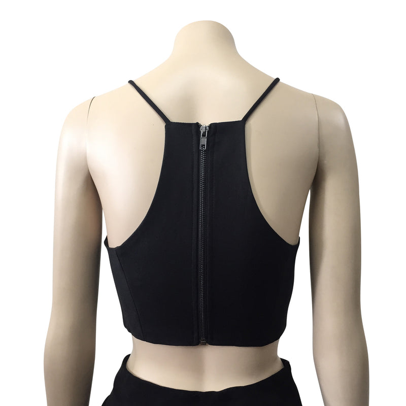 After Dark Black Crop Top