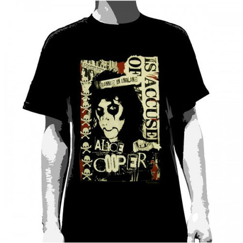 ALICE COOPER ACCUSED MEN'S T-SHIRT