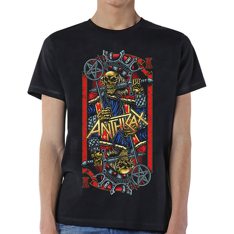Anthrax Men's Tee Evil King Famous Rock Shop Newcastle NSW Australia