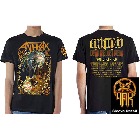 Anthrax Men's Tee Evil Twin With Back Print Famous Rock Shop Newcastle NSW Australia