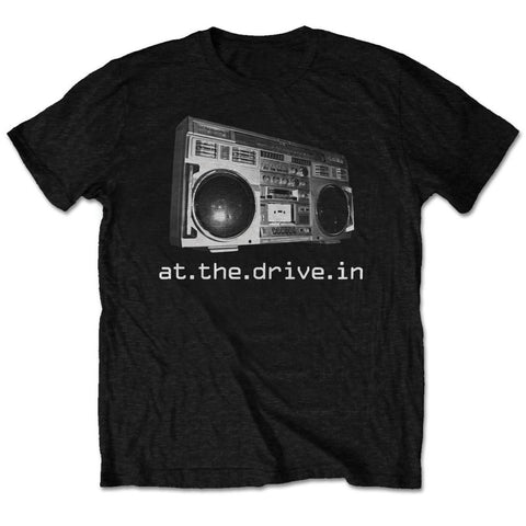 At The Drive-In Men's Tee: Boom Box Colour Black ATDITS01MB0 At The Drive-In Men's Tee: Boom Box Colour Black Famous Rock Shop Newcastle 2300 NSW Australia