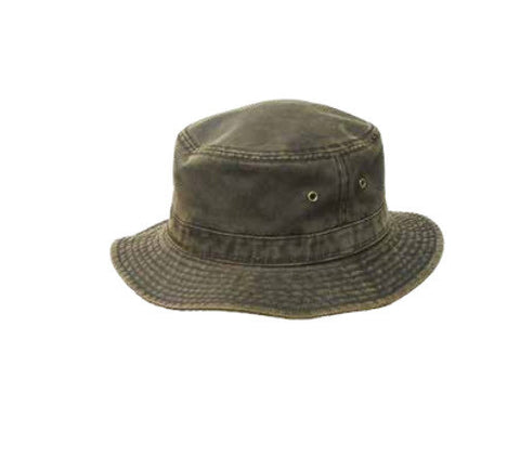 Avenel Weathered Cotton Bucket Hat Brown M013