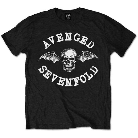 Avenged Sevenfold Men's Tee: Classic Death Bat Colour Black ASTS14MB0 Avenged Sevenfold Men's Tee: Classic Death Bat Colour Black Famous Rock Shop Newcastle 2300 NSW Australia