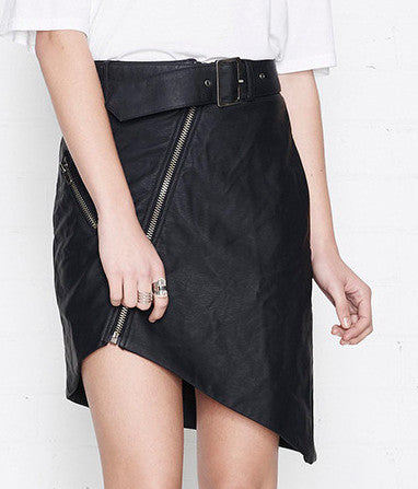 Nana Judy Black Biker Skirt