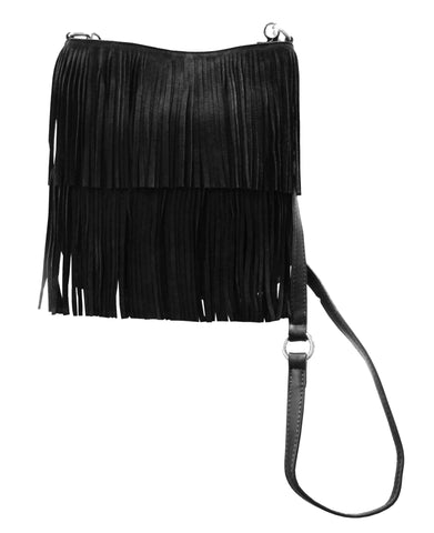 Urban Originals Burning Up Black Tassel Bag