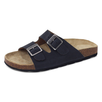 Roc Bermuda Black Leather Sandals