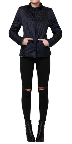 Betty Basics Thatcher Puffer Jacket Navy / Beige