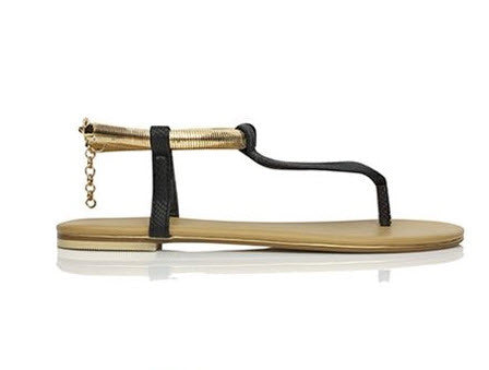 Billini Clarity Black Snake Sandal S315