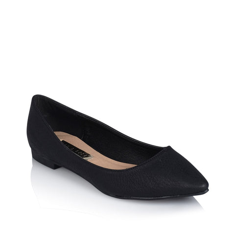 Billini Vania Black Tumble Vegan Flat Slip-On