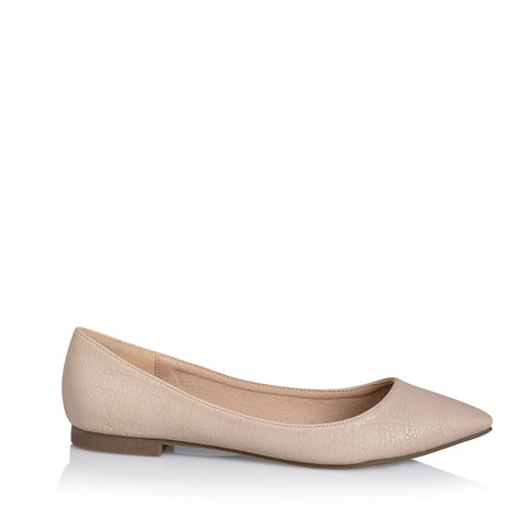 Billini Vania Nude Tumble Vegan Flat Slip-On
