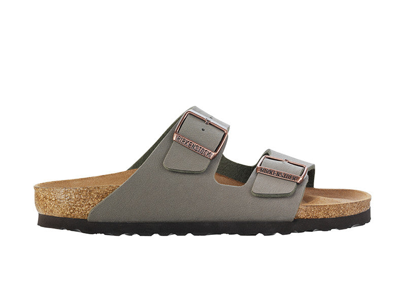 Birkenstock Arizona Stone Narrow Fit Birko-Flor Nubuck Classic Footbed 151213