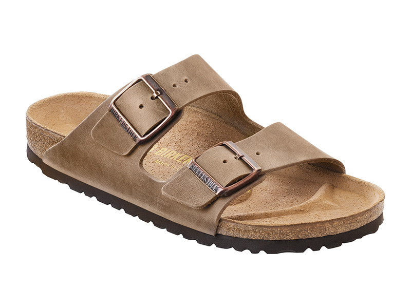Birkenstock Arizona Tabacco Brown Regular Natural Oiled Leather Classic Footbed