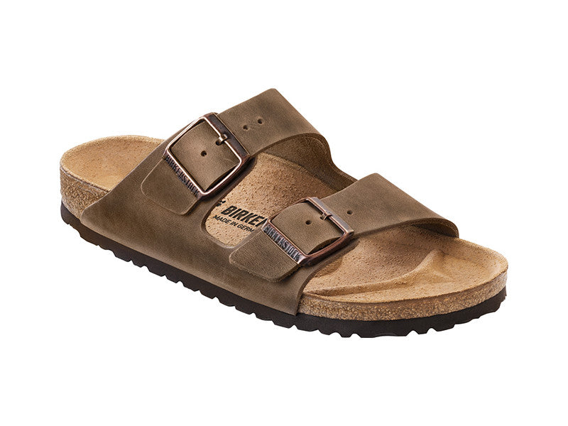 Birkenstock Arizona Tabacco Brown Narrow Natural Oiled Leather Classic Footbed 0352203