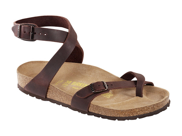 Birkenstock Yara NU Oiled Habana Narrow Natural Oiled Leather Classic Footbed 0013393