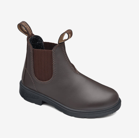 Blundstone Kids 630 PU-Elastic Sided Brown Famous Rock Shop Newcastle, 2300 NSW. Australia. 1