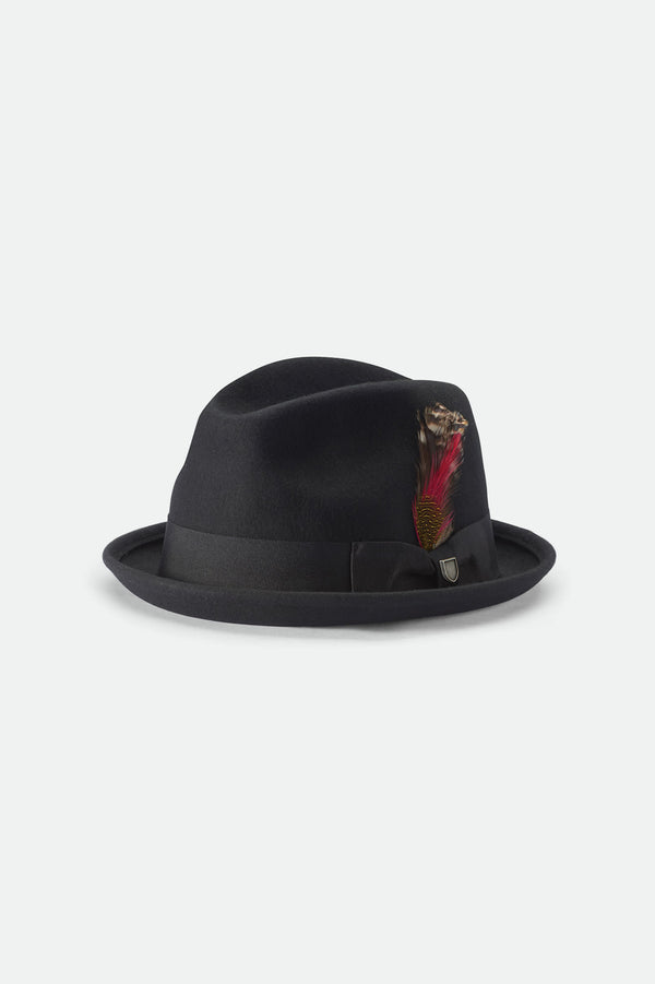 Brixton Gain Fedora Black 00001 Hat