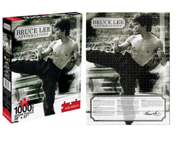 "Bruce Lee Affirmations 1000 Piece Jigsaw Puzzle 20"" x 27"""