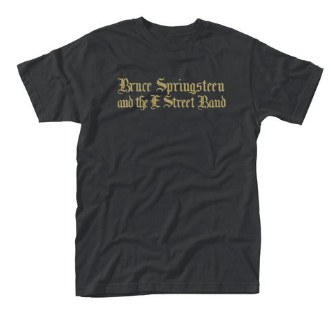 Bruce Springsteen Black Motorcycle Guitars Black T-Shirt