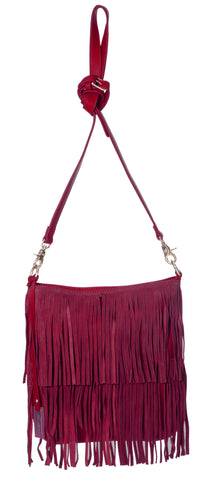 Urban Originals Burning Up Tassel Bag Burgundy