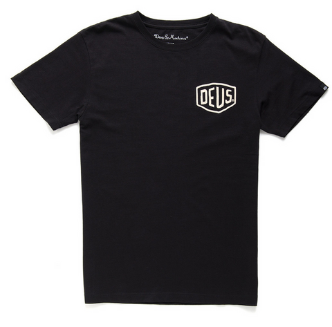 Deus Camperdown Address Tee Black D1808