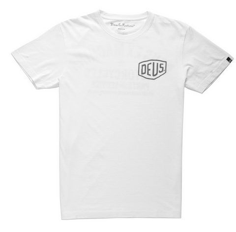 Deus Camperdown Address Tee White D1808