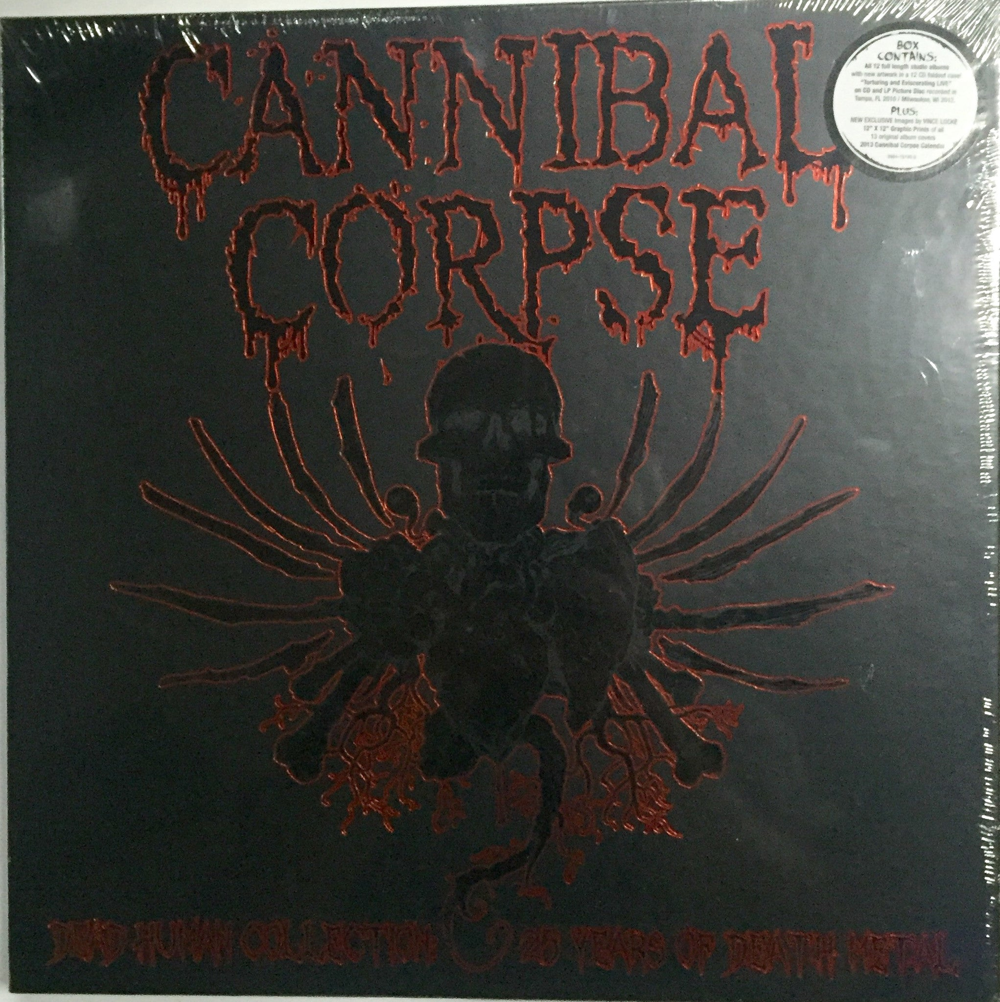 29a4c70310e Cannibal Corpse - Dead Human Collection Box Set 25 Years of Death Metal  Track list Eaten ...